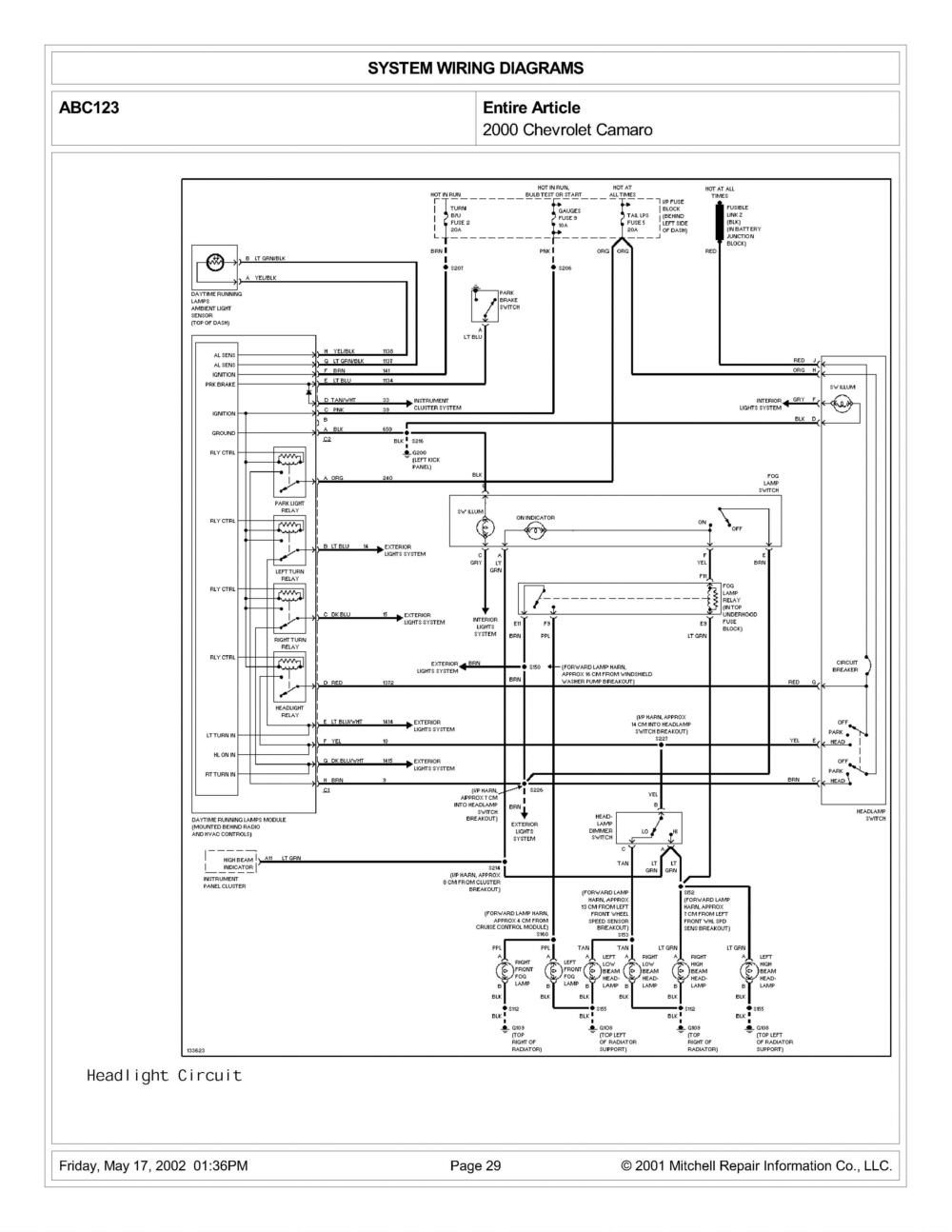 2000 chevy camaro headlight wiring diagram wiring library First Camaro Z28 2000 chevy camaro headlight wiring diagram
